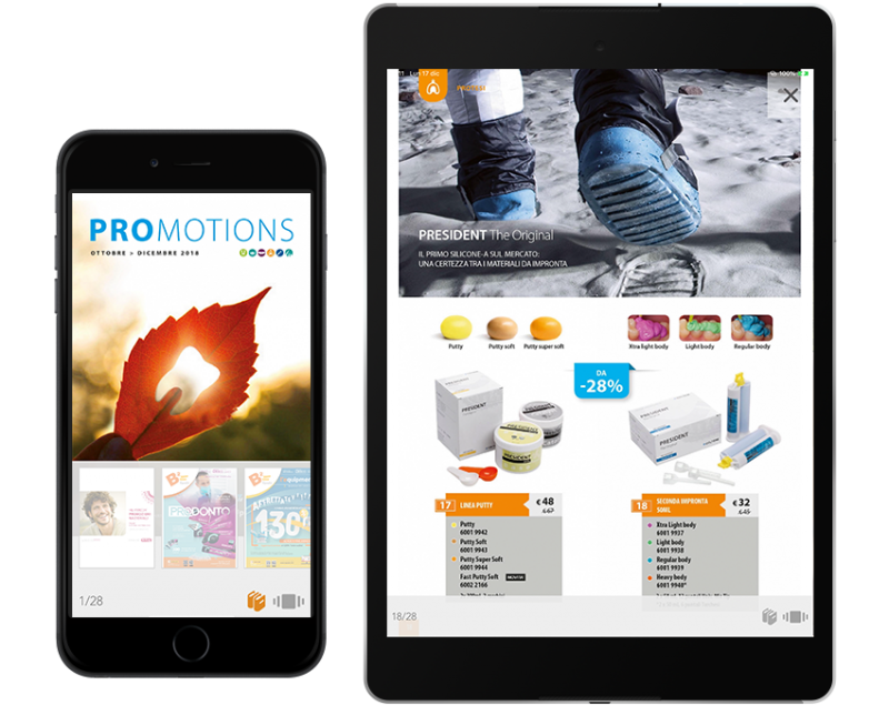 Browse the catalogs online, create orders from Tablet and buy with a few clicks