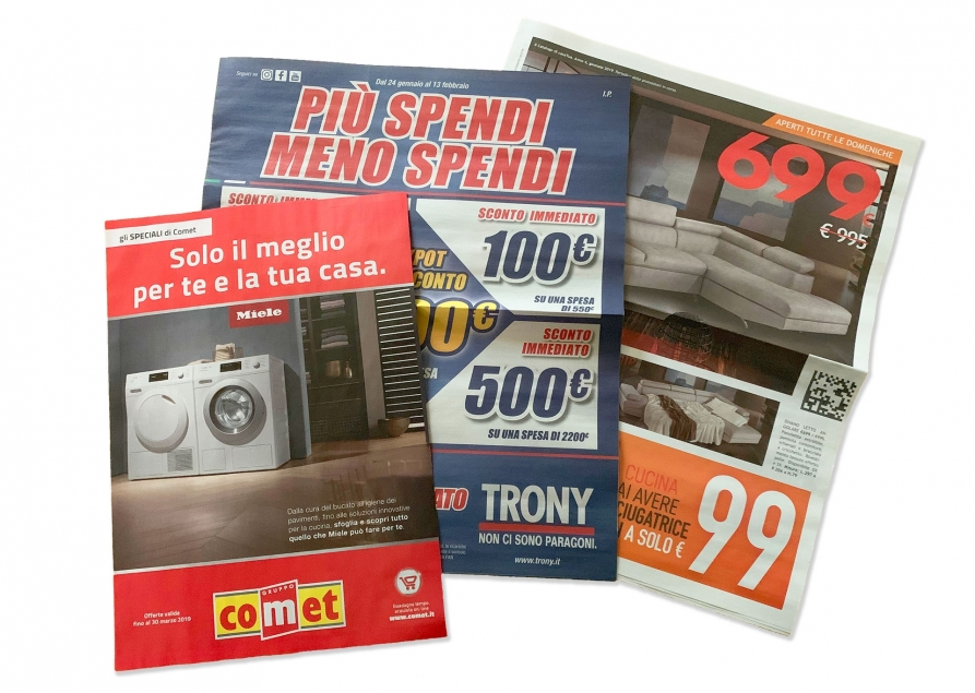Magazine and promotional catalogs